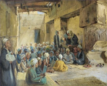 Islamic Painting - ECOLE CORANIQUE by ANTON BINDER Islamic