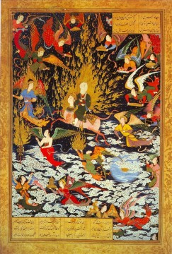 Miraj by Sultan Muhammad religious Islam Oil Paintings