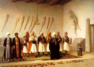 rome Painting - Prayer in the House of an Arnaut Chief Arab Jean Leon Gerome Islamic