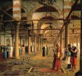 Public Prayer in the Mosque of Amr Cairo Arab Jean Leon Gerome Islamic