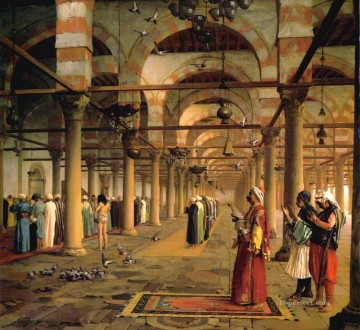 Artworks in 150 Subjects Painting - Public Prayer in the Mosque of Amr Cairo Arab Jean Leon Gerome Islamic
