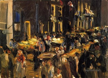 Jewish Quarter in Amsterdam Max Liebermann Oil Paintings