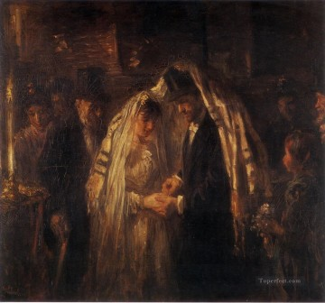A Jewish Wedding 1903 Jewish Oil Paintings
