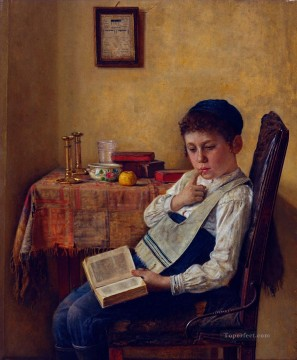 A Yeshiva Boy Isidor Kaufmann Hungarian Jewish Oil Paintings
