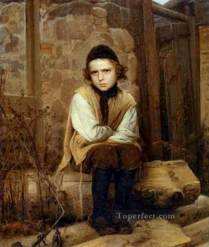 Insulted Jewish Boy Democratic Ivan Kramskoi Jewish Oil Paintings