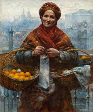Jewess with Oranges Aleksander Gierymski Jewish Oil Paintings