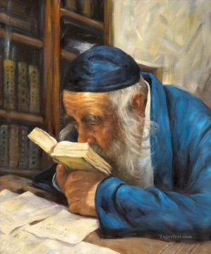 old man reading Jewish Oil Paintings