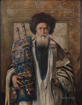 portrait of a man Isidor Kaufmann Hungarian Jewish Oil Paintings