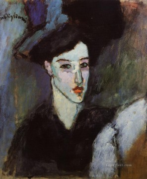 the jewish woman 1908 Amedeo Modigliani Jewish Oil Paintings
