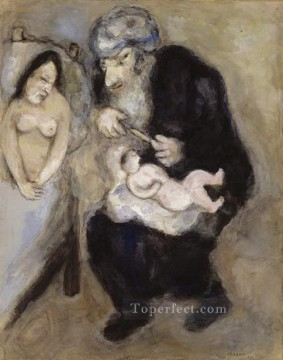 Circumcision prescribed by God to Abraham MC Jewish Oil Paintings