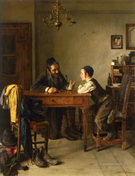 Commercial Instruction Isidor Kaufmann Hungarian Jewish Oil Paintings