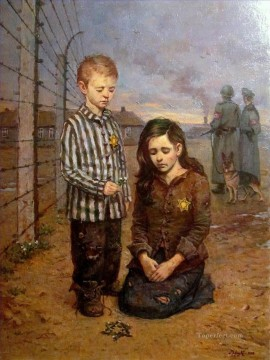 Holocaust broken childhood Jewish Oil Paintings