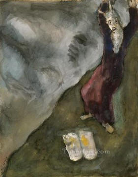Moses breaks Tablets of Law MC Jewish Oil Paintings