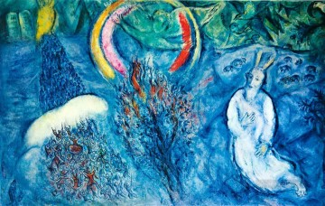 Moses with the Burning Bush MC Jewish Oil Paintings