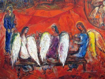 Abraham and three Angels detail MC Jewish Oil Paintings