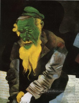 Jew in Green MC Jewish Oil Paintings