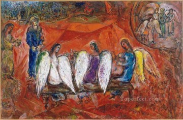 Abraham and three Angels MC Jewish Oil Paintings