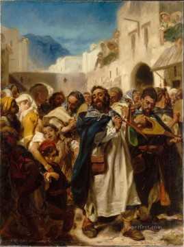 Jewish Festival in Tetuan Alfred Dehodencq Jewish Oil Paintings