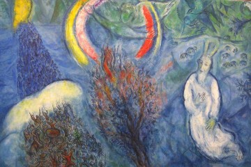 Moses and the Burning Bush MC Jewish Oil Paintings