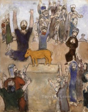 The Hebrews adore the golden calf MC Jewish Oil Paintings