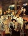 Maurycy Gottlieb Jews Praying in the Synagogue on Yom Kippur Jewish