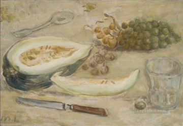 Russian Painting - STILL LIFE WITH MELON AND GRAPES Russian