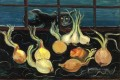still life with cat and onions 1928 Boris Dmitrievich Grigoriev