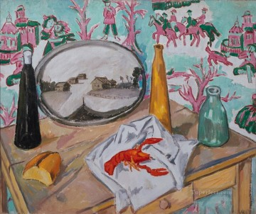 life - still life with lobster 1907 Russian