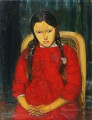 GIRL IN RED Boris Dmitrievich Grigoriev