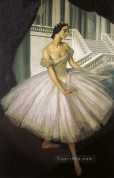 Russian Painting - alexandre jacovleff portrait of anna pavlova 1915 Russian
