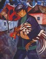 boy with rooster Russian