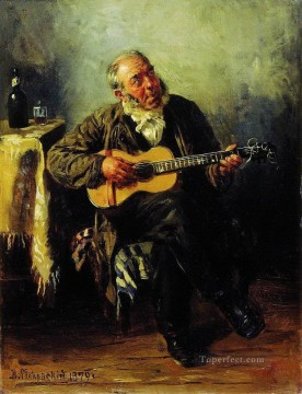 Russian Painting - guitar player 1879 Vladimir Makovsky Russian