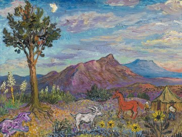 Russian Painting - landscape in new mexico 1942 Russian