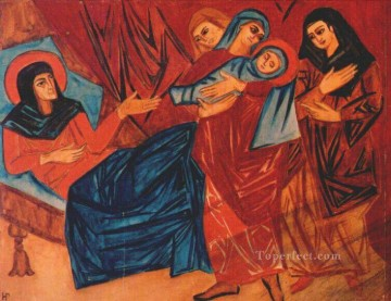 Russian Painting - nativity Russian
