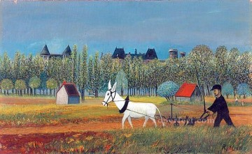 Russian Painting - peasant working in a field Russian