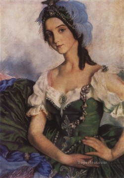 costume Works - portrait of a ballerina a d danilova in costume for ballet armida pavilion