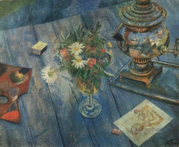 life - still life with samovar 1920 Kuzma Petrov Vodkin
