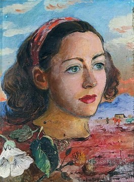 Russian Painting - surrealistic portrait 1947 Russian