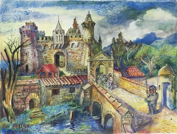Russian Painting - english castle 1946 Russian