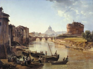new orleans Painting - New Rome Castle of the Holy Angel Sylvester Shchedrin Russian