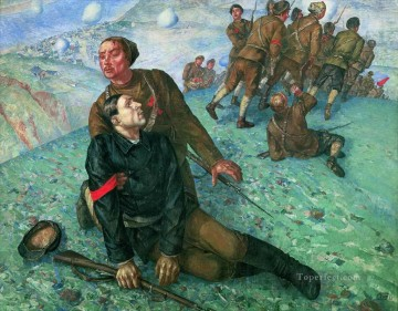 Russian Painting - Death of Commissar Kuzma Petrov Vodkin