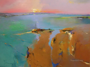 Across the Bay abstract seascape Oil Paintings