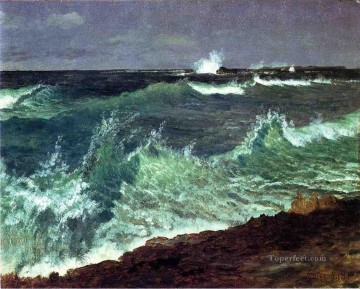 Albert Bierstadt Ocean Waves Oil Paintings