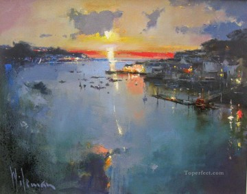 At the end of the Day Fowey abstract seascape Oil Paintings