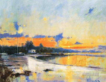 Bishops Quay abstract seascape Oil Paintings
