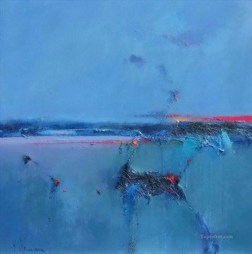 Dawn Painting - Cobalt Dawn abstract seascape