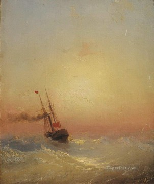 Ivan Aivazovsky sand pebbles Seascape Oil Paintings