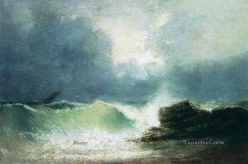 Ivan Aivazovsky sea coast wave Seascape Oil Paintings