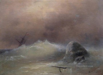 Ivan Aivazovsky stormy sea Seascape Oil Paintings