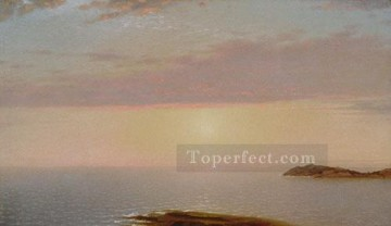 Seascape Painting - John Frederick Kensett Sunset seascape